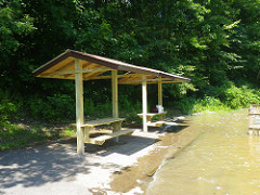 finished picnic shelters